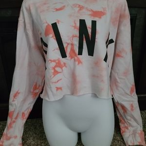 Pink tye dye sweat shirt